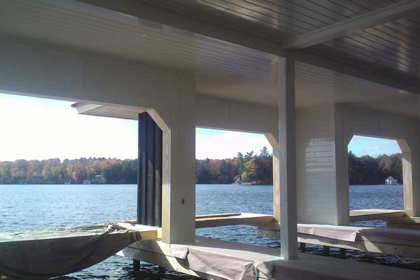boathouse painted