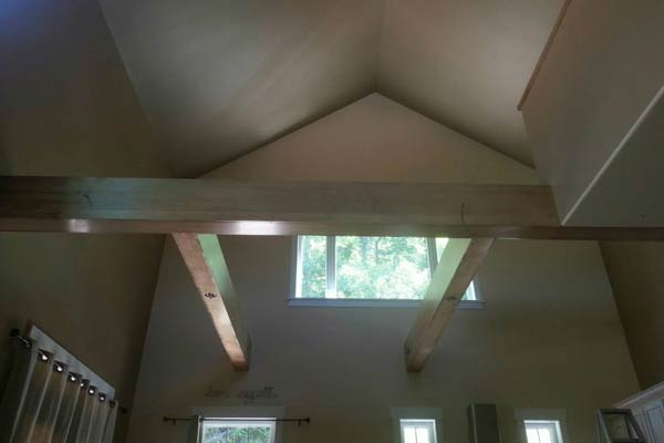 Vaulted ceiling painted